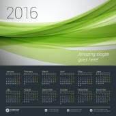 Šablona návrhu vektorové kalendáře 2016. Týden začíná pondělí