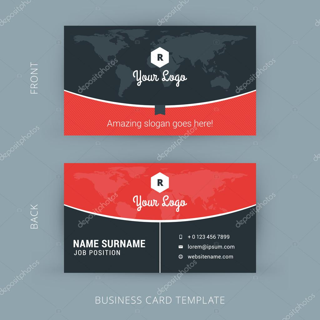 526bf275067f Διάνυσμα πρότυπο σύγχρονο δημιουργικό και καθαρή επαγγελματική κάρτα–  εικονογράφηση αρχείου