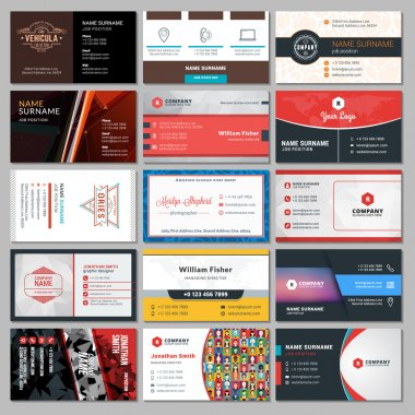 Set of Modern Creative Business Card Templates