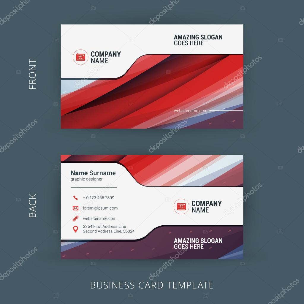 Vector creative business card template with abstract background vector creative business card template with abstract background vetores de stock reheart Image collections