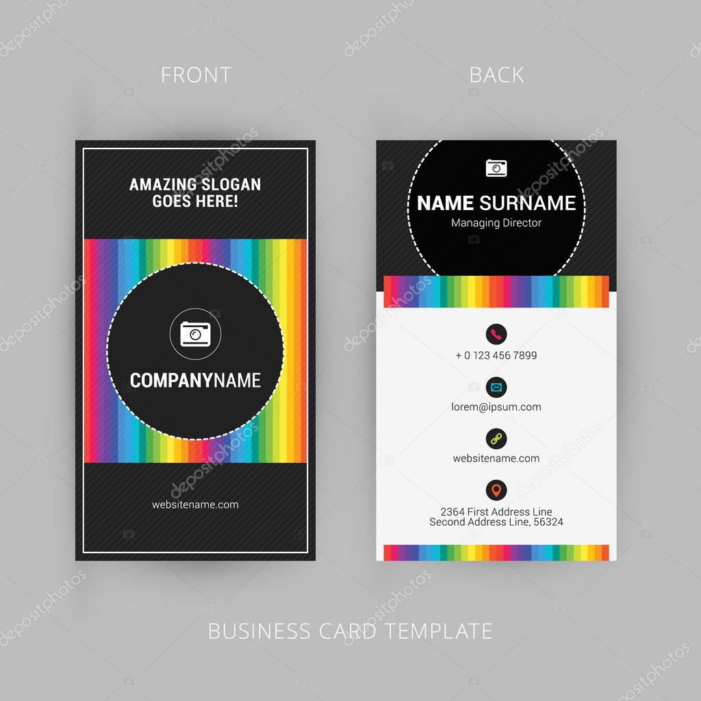 Vector modern creative and clean business card template with rainbow vector modern creative and clean business card template with rainbow element vetores de stock reheart Choice Image