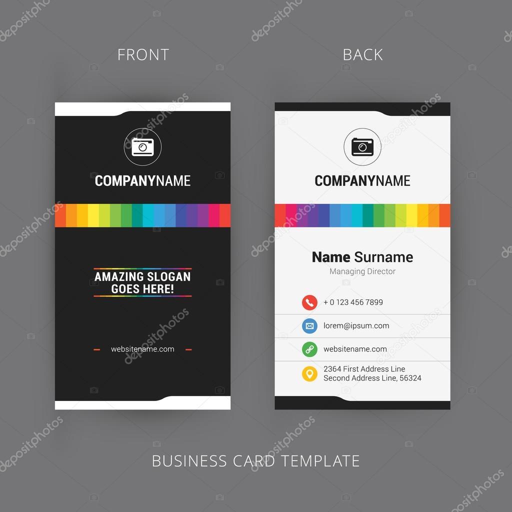 Vector modern creative and clean business card template with rainbow vector modern creative and clean business card template with rainbow element vetor de stock reheart Choice Image