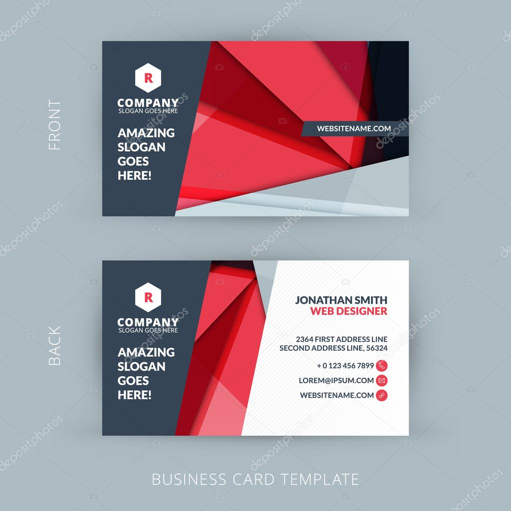 Creative and clean business card template with material design creative and clean business card template with material design abstract colorful background vetor de stock reheart Gallery