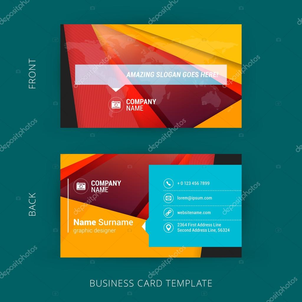 Kreative und saubere Visitenkarte mit Material Design ...