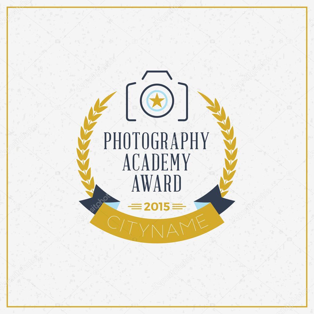 photography logo design template retro vector badge photography
