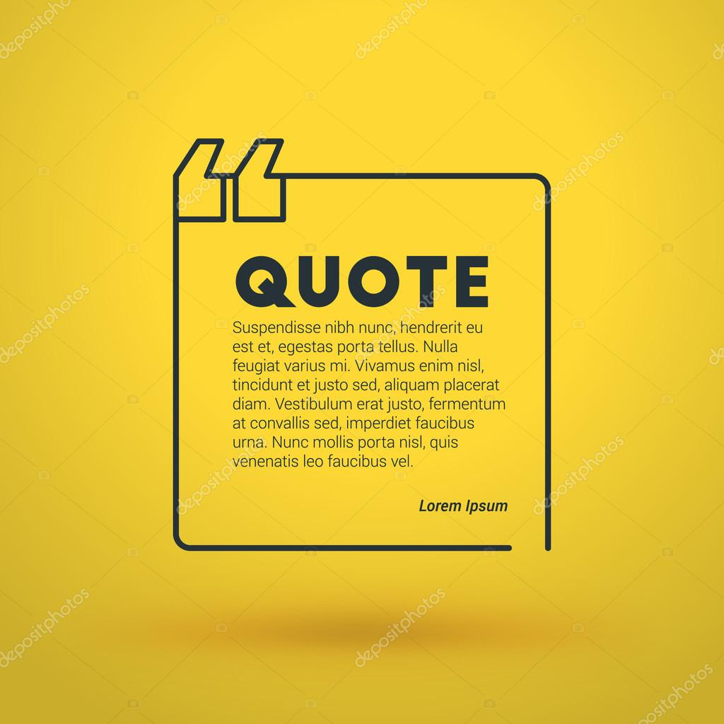 Zitat Blank Vektor-Design-Vorlage. Vector Typographic Hintergrund ...