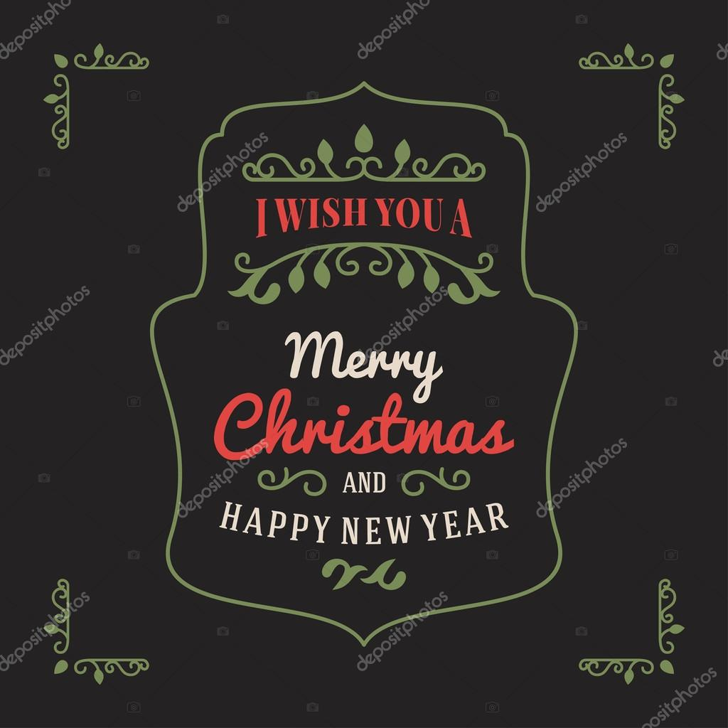 Weihnachtsgrüße Vintage.Vintage Retro Merry Christmas Greetings Badge Vector Illustration