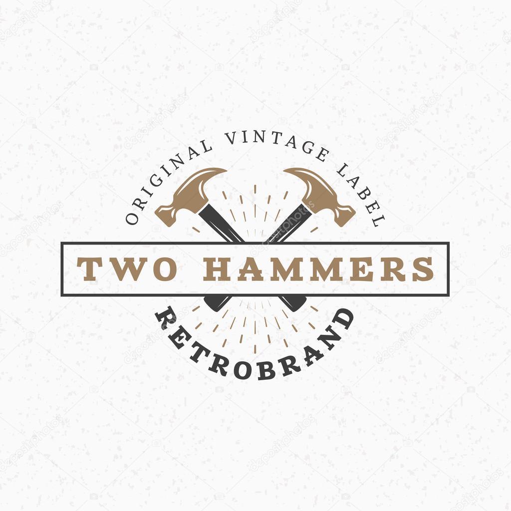 Crossed Hammers Stock Vectors Royalty Free Crossed Hammers
