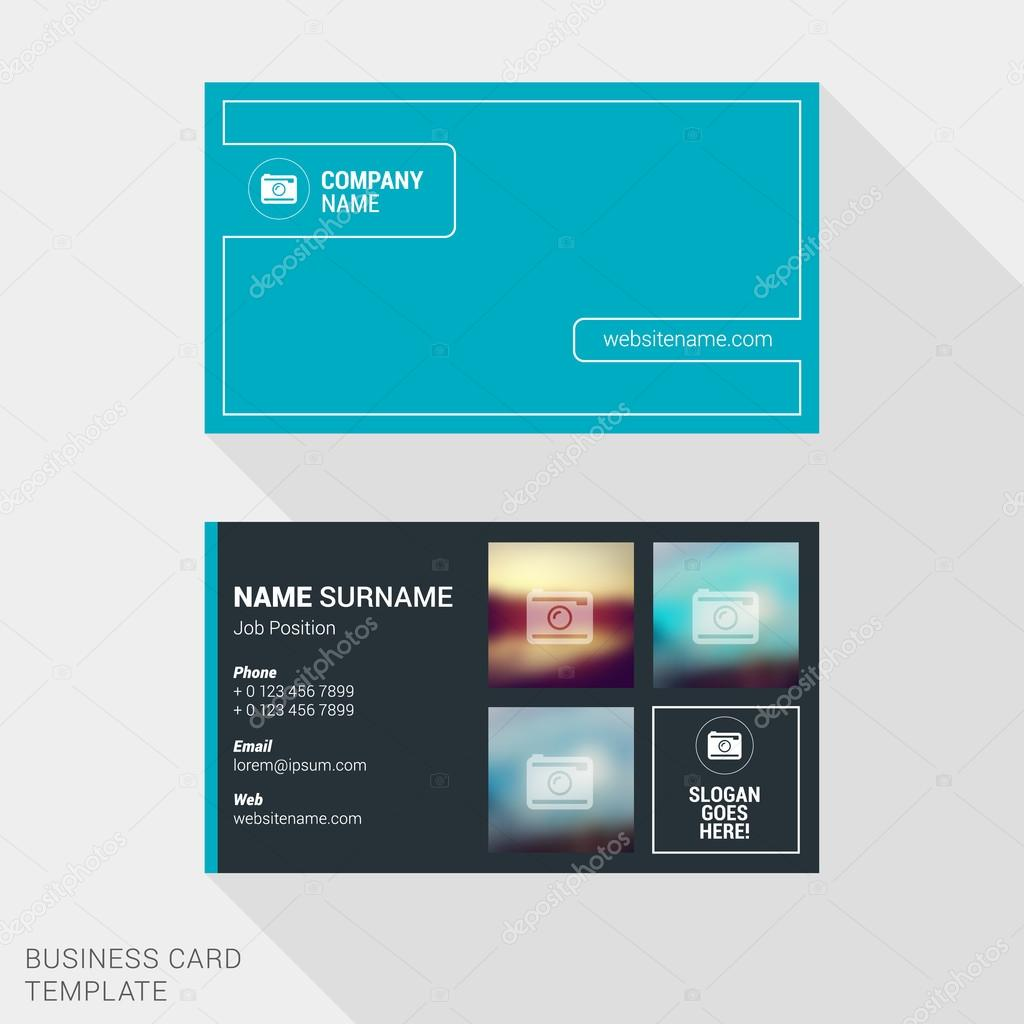modern creative and clean business card template for photographer