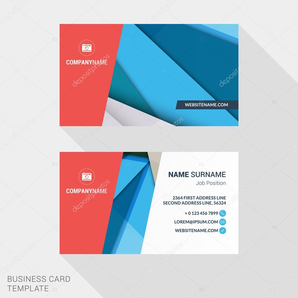 Modern creative and clean business card template with abstract modern creative and clean business card template with abstract material design background flat style vector magicingreecefo Choice Image