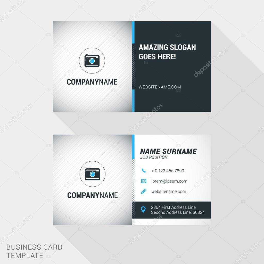 Creative and clean business card template in blue and black colors creative and clean business card template in blue and black colors with thin diagonal lines and colourmoves