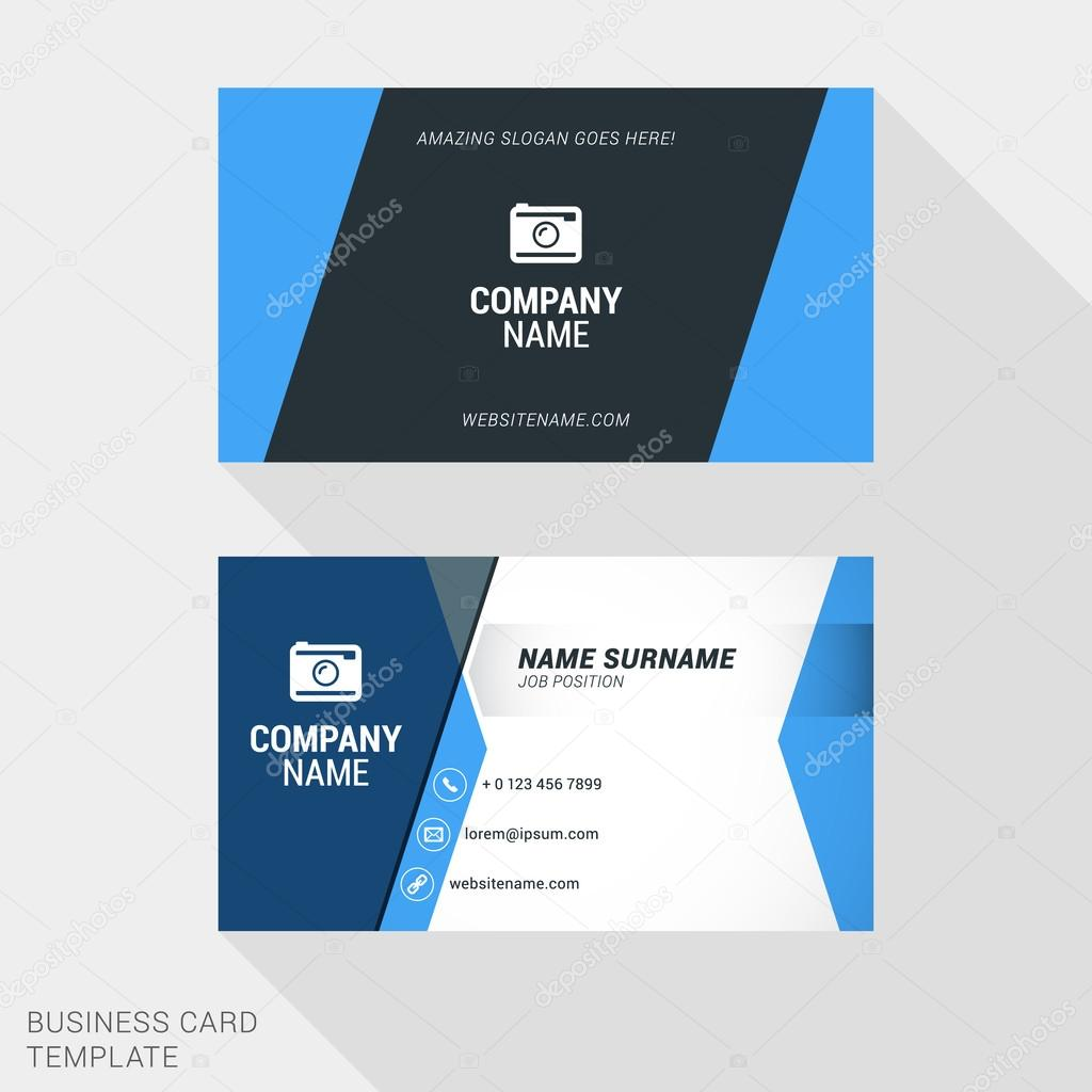 Creative and clean business card vector print template flat style creative and clean business card vector print template flat style vector illustration stationery design reheart Images