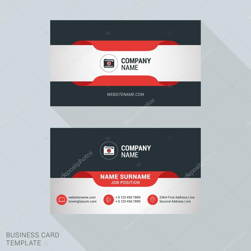 Creative and clean business card vector print template flat style creative and clean business card vector print template flat style vector illustration stationery design reheart Choice Image