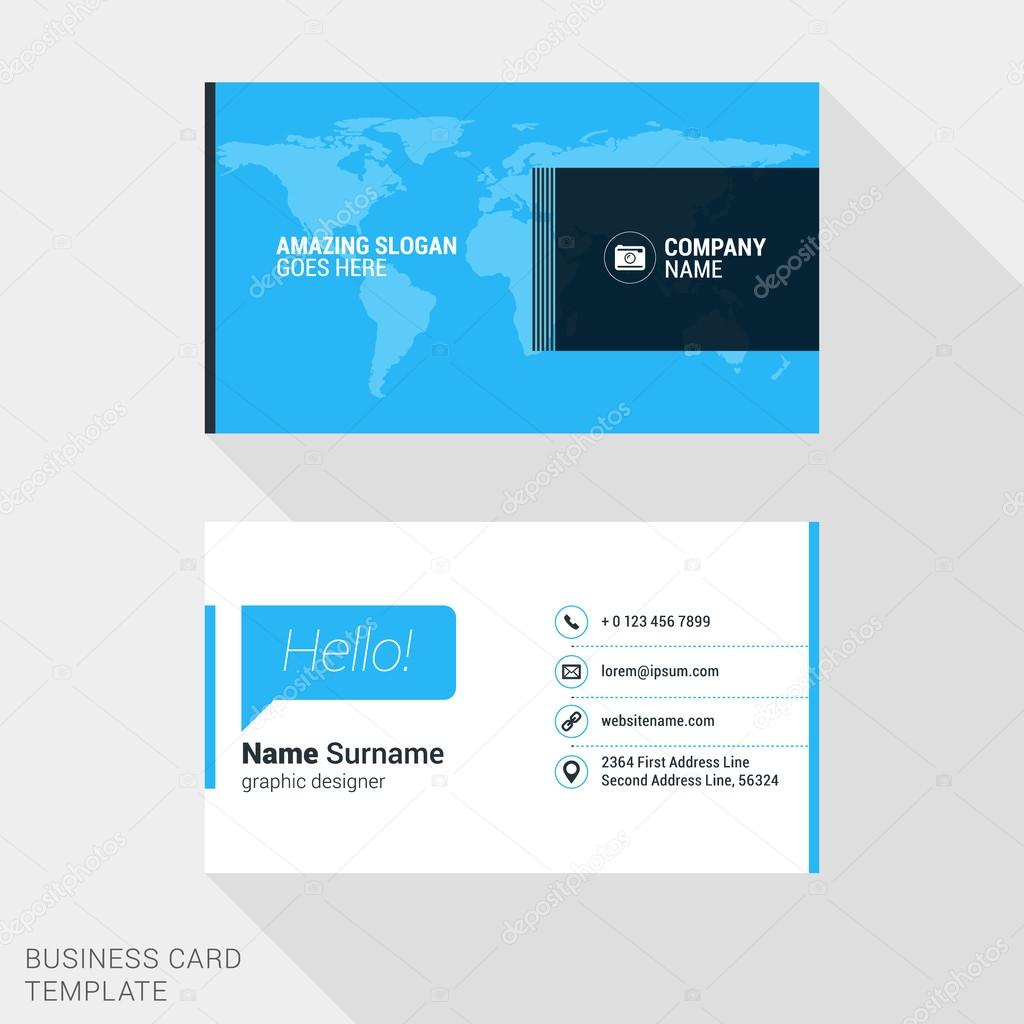 Creative business card print template flat design vector creative business card print template flat design vector illustration stationery design vetor de reheart Image collections