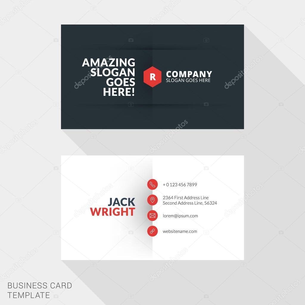 Creative business card print template flat design vector creative business card print template flat design vector illustration stationery design vetor de reheart Image collections