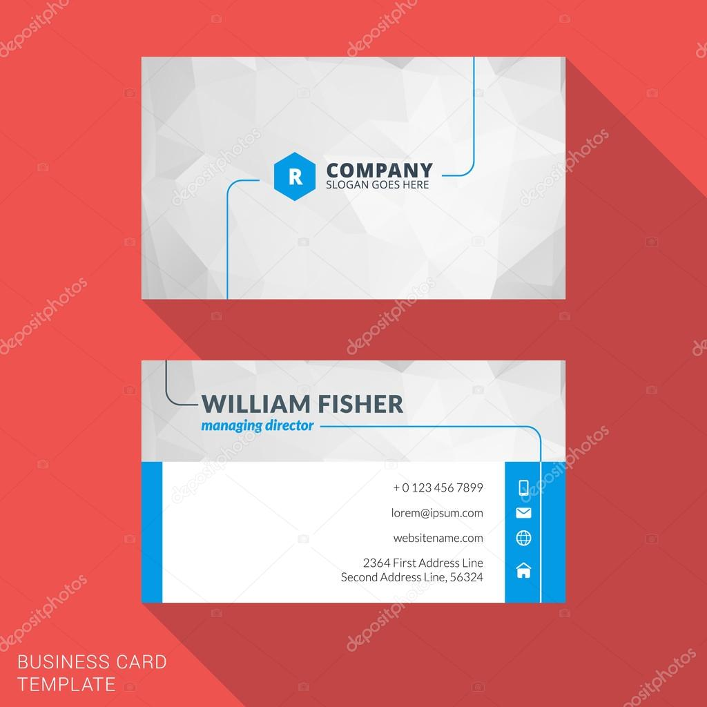 Creative business card print template flat design vector creative business card print template flat design vector illustration stationery design vetores de reheart Choice Image