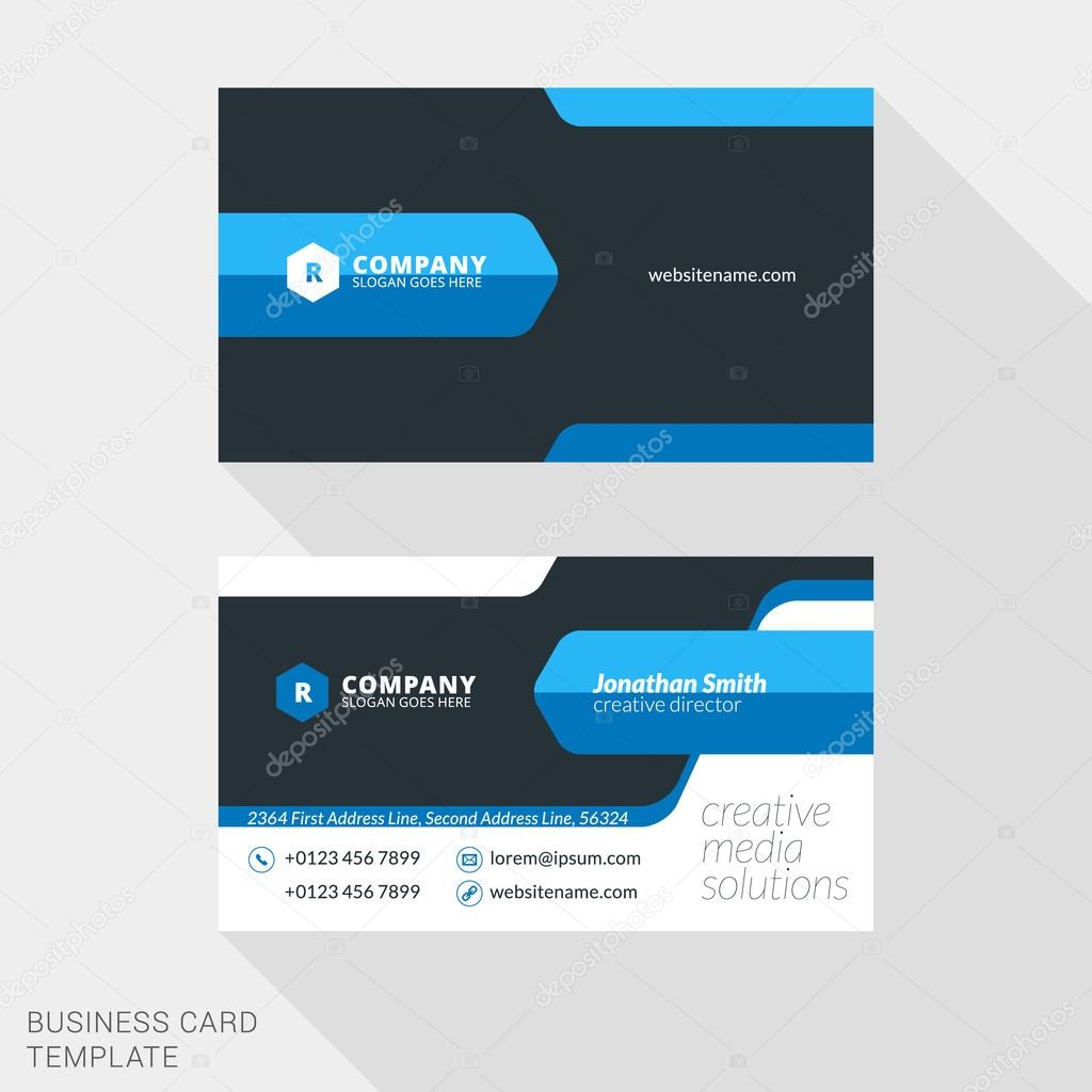 Creative business card print template flat design vector creative business card print template flat design vector illustration stationery design vetores de reheart Image collections