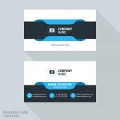 Modern Creative Business Card Template. Flat Design Vector Illustration. Stationery Design