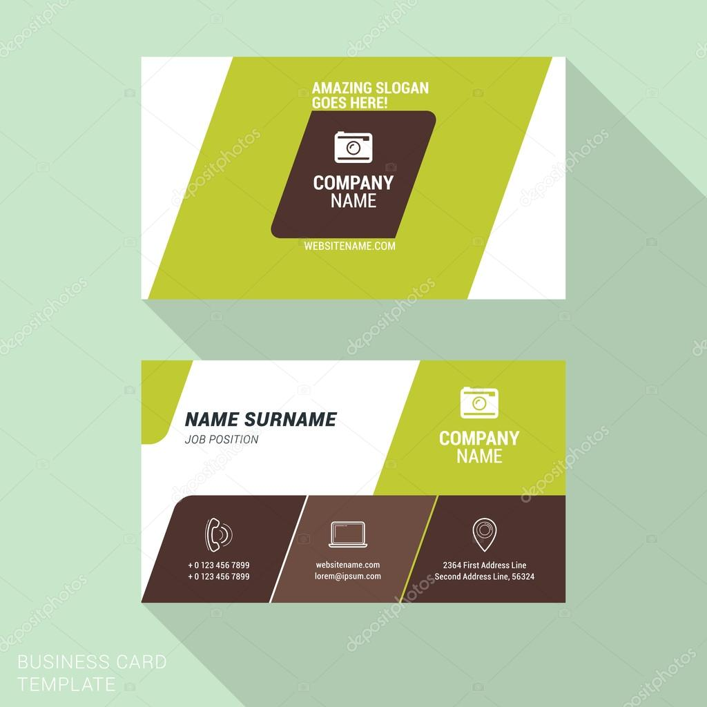 Modern creative business card template flat design vector modern creative business card template flat design vector illustration stationery design vetor de reheart Image collections