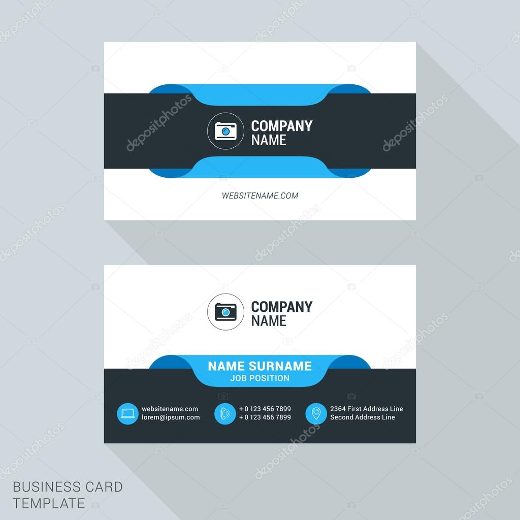 Modern creative business card template flat design vector modern creative business card template flat design vector illustration stationery design vetores de reheart Image collections