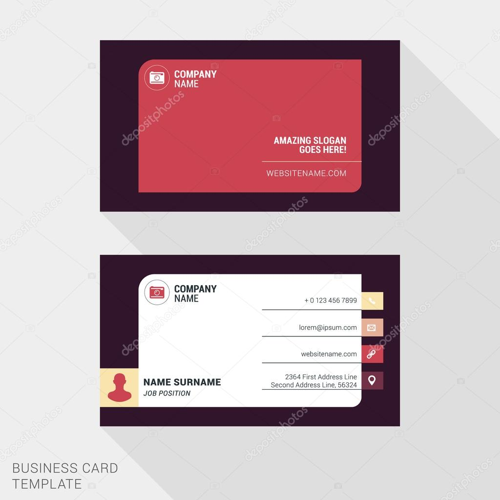 Modern creative business card template flat design vector modern creative business card template flat design vector illustration stationery design vetor de reheart Image collections