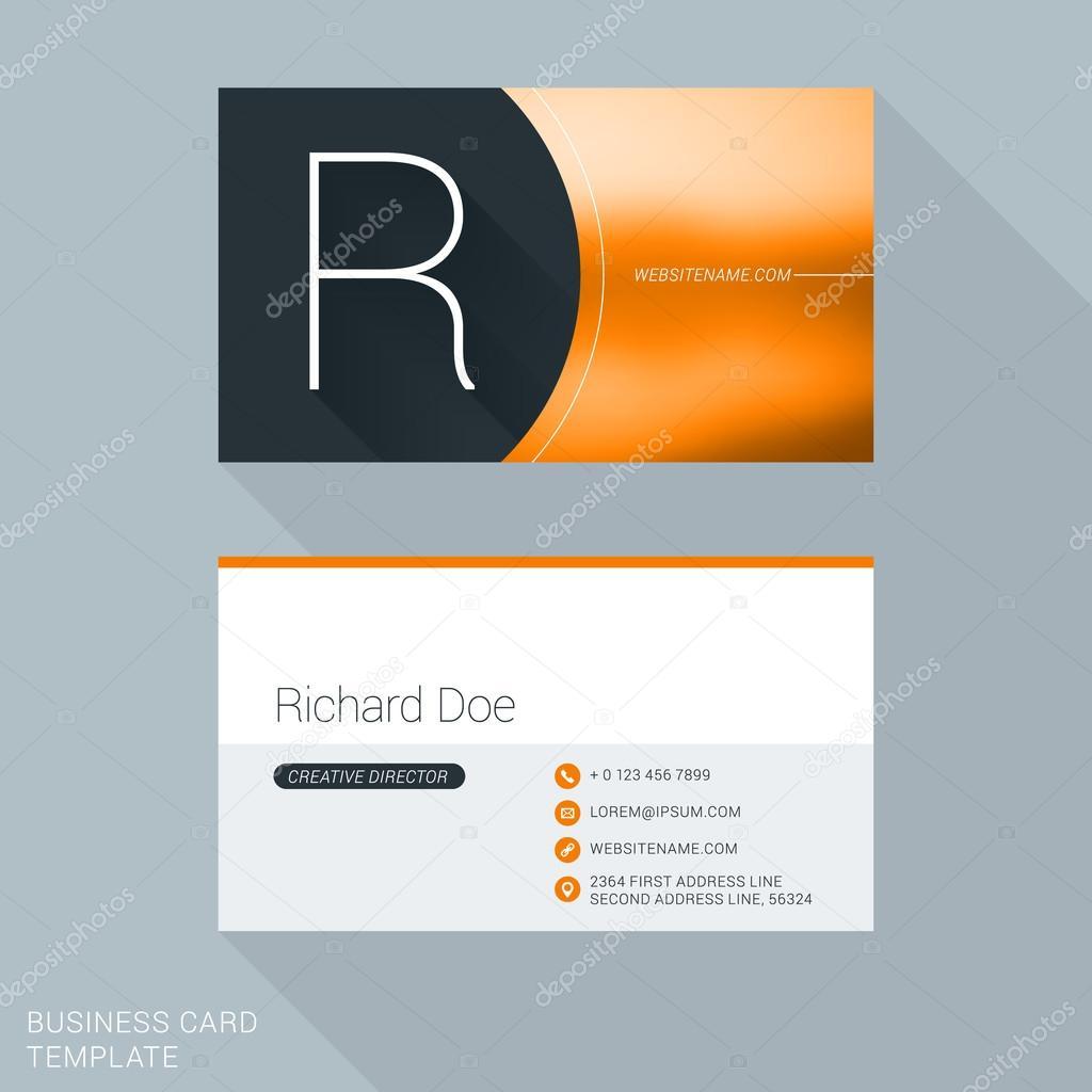 Kreative Visitenkarten Vorlage Brief R Flat Design Vektor