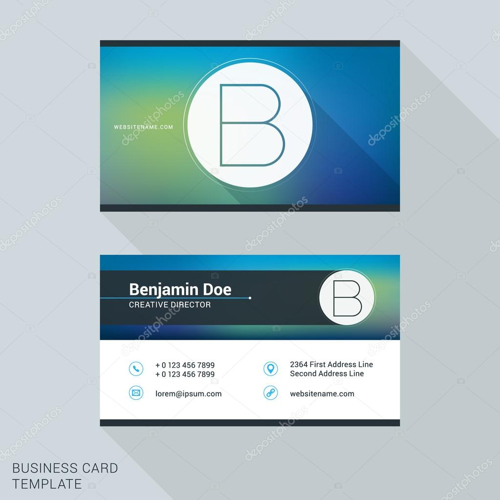 Creative and clean business card or name badge template logotype creative and clean business card or name badge template logotype letter b flat design accmission Gallery