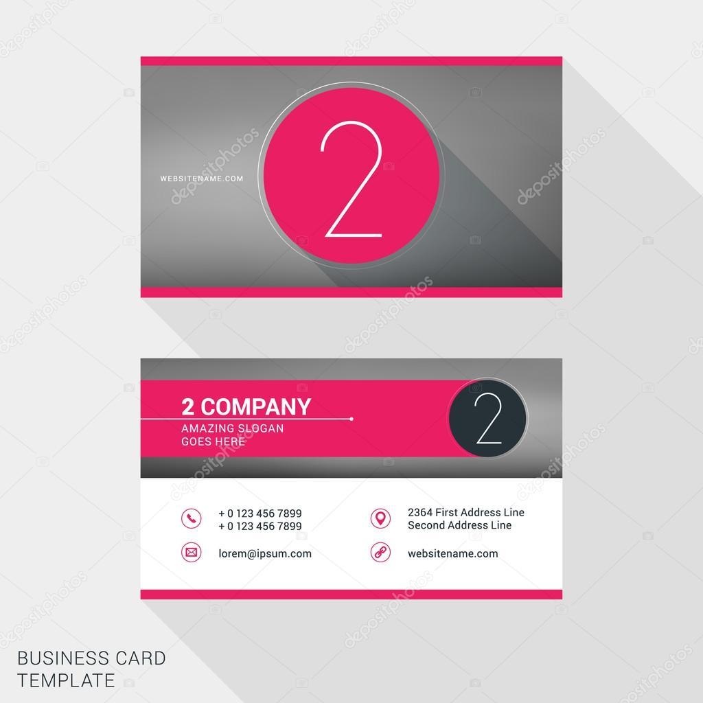 Creative and clean business card or name badge template logotype creative and clean business card or name badge template logotype number 2 flat design wajeb Choice Image