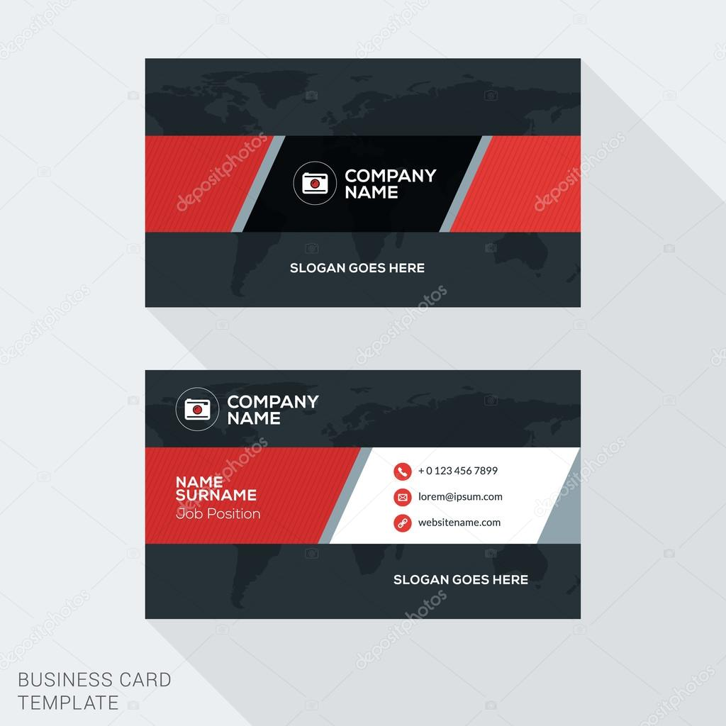 Creative business card vector template flat design vector creative business card vector template flat design vector illustration stationery design vetores de reheart Images