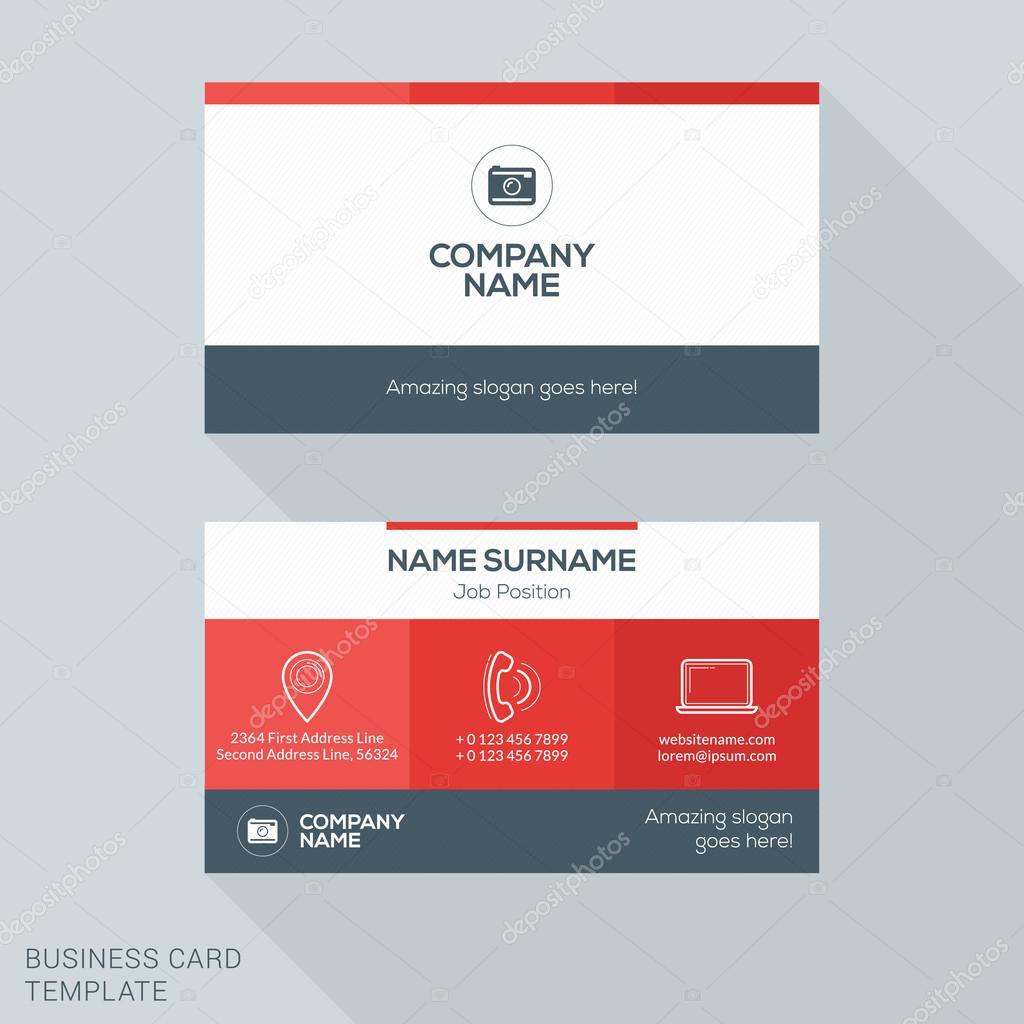 Creative business card vector template flat design vector creative business card vector template flat design vector illustration stationery design vetores de reheart Images