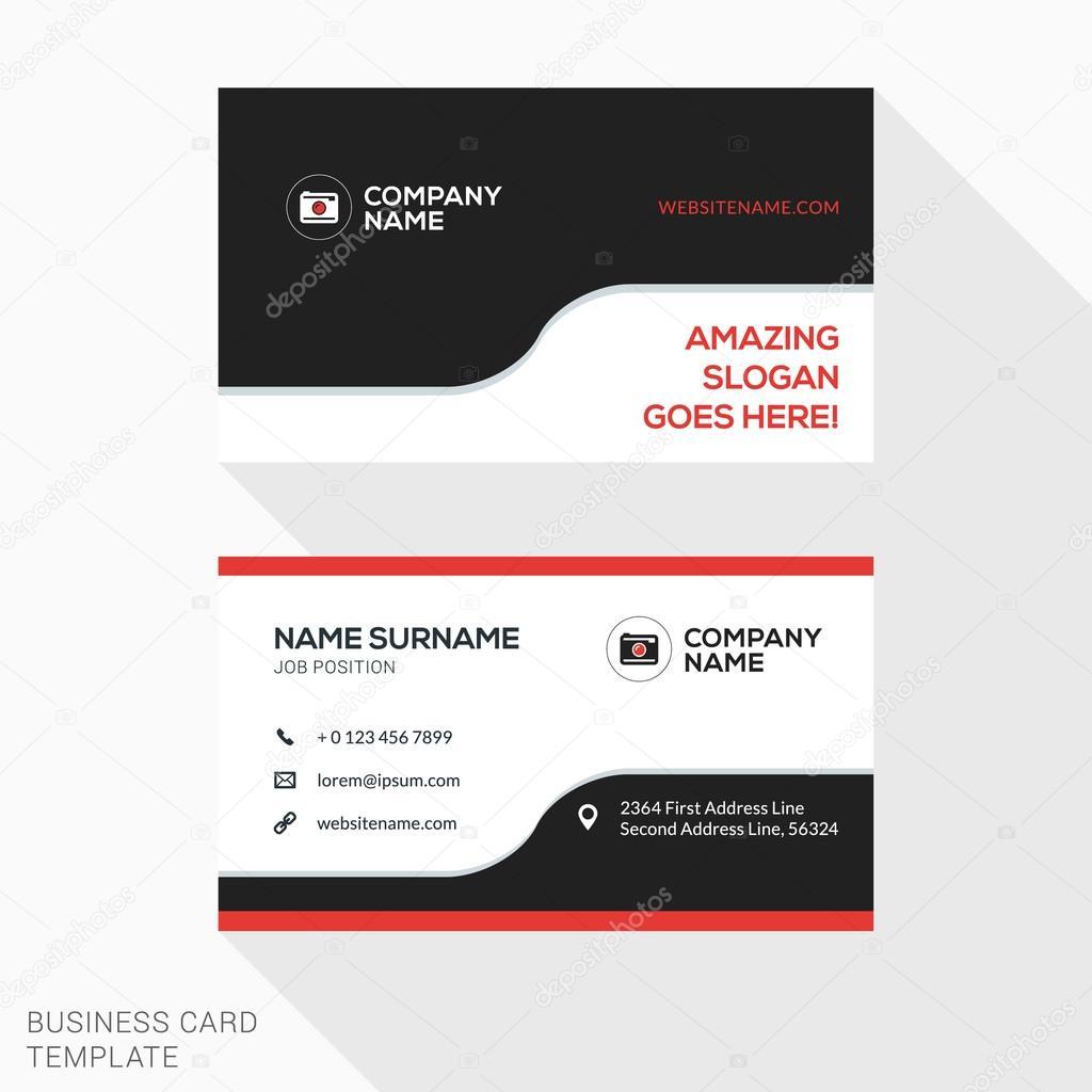 Creative business card vector template flat design vector creative business card vector template flat design vector illustration stationery design vetores de reheart Gallery