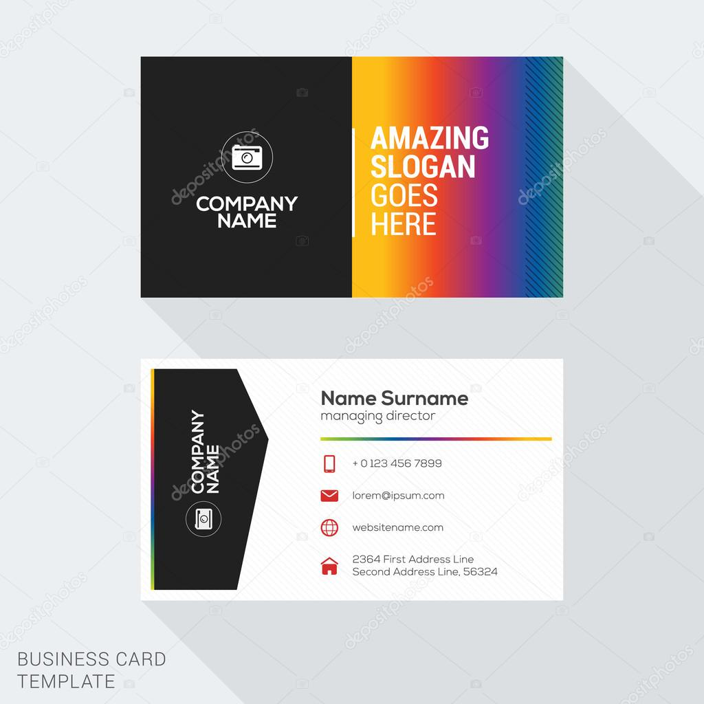 Creative business card vector template flat design vector creative business card vector template flat design vector illustration stationery design vetores de reheart Image collections