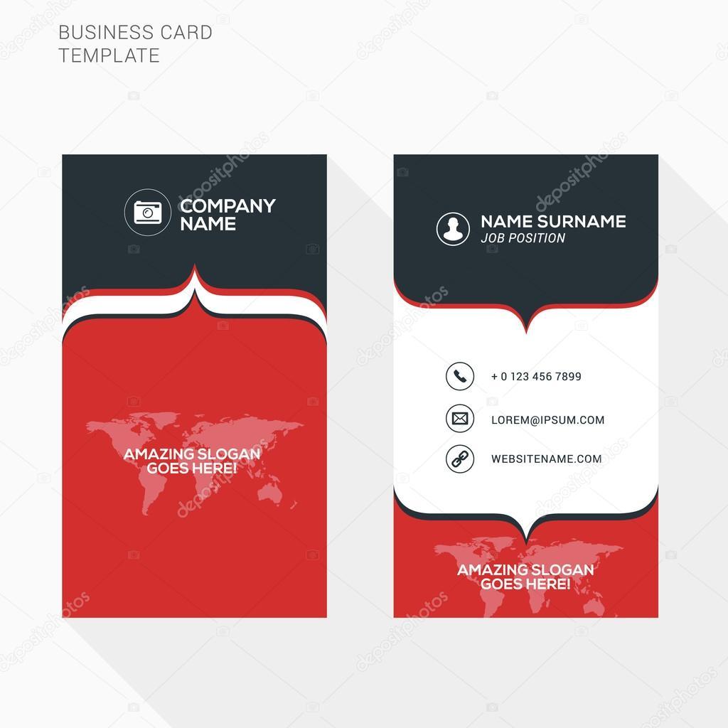 Creative business card vector template flat design vector creative business card vector template flat design vector illustration stationery design vetor de reheart Gallery