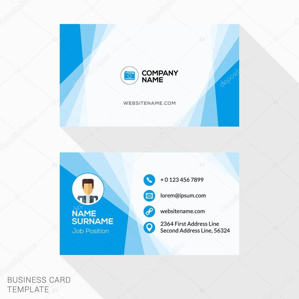 Creative business card vector template flat design vector creative business card vector template flat design vector illustration stationery design vetor de reheart Images