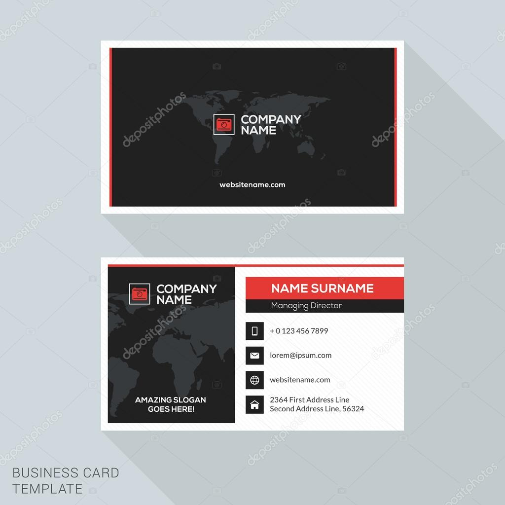 Creative business card vector template flat design vector creative business card vector template flat design vector illustration stationery design vetores de reheart