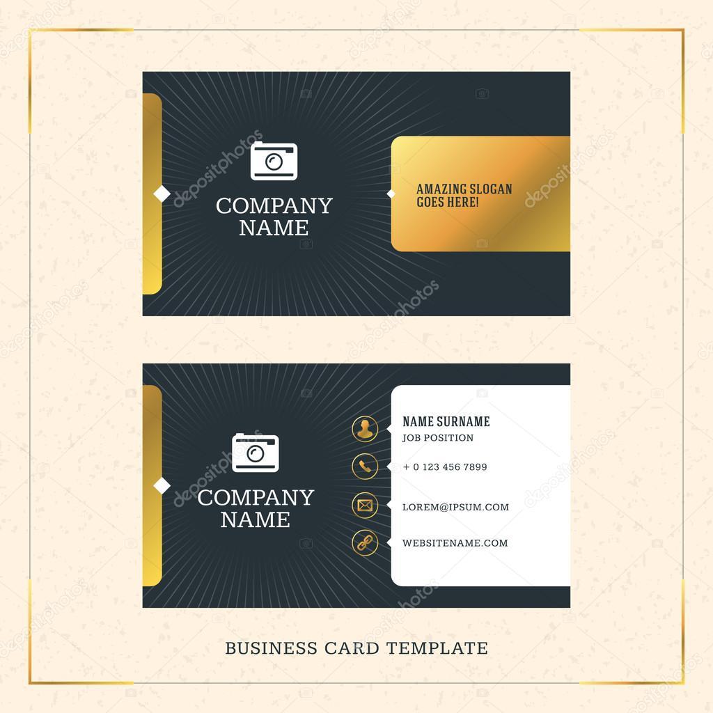 Modern creative golden business card vector template vector modern creative golden business card vector template vector illustration stationery design gold and reheart Gallery