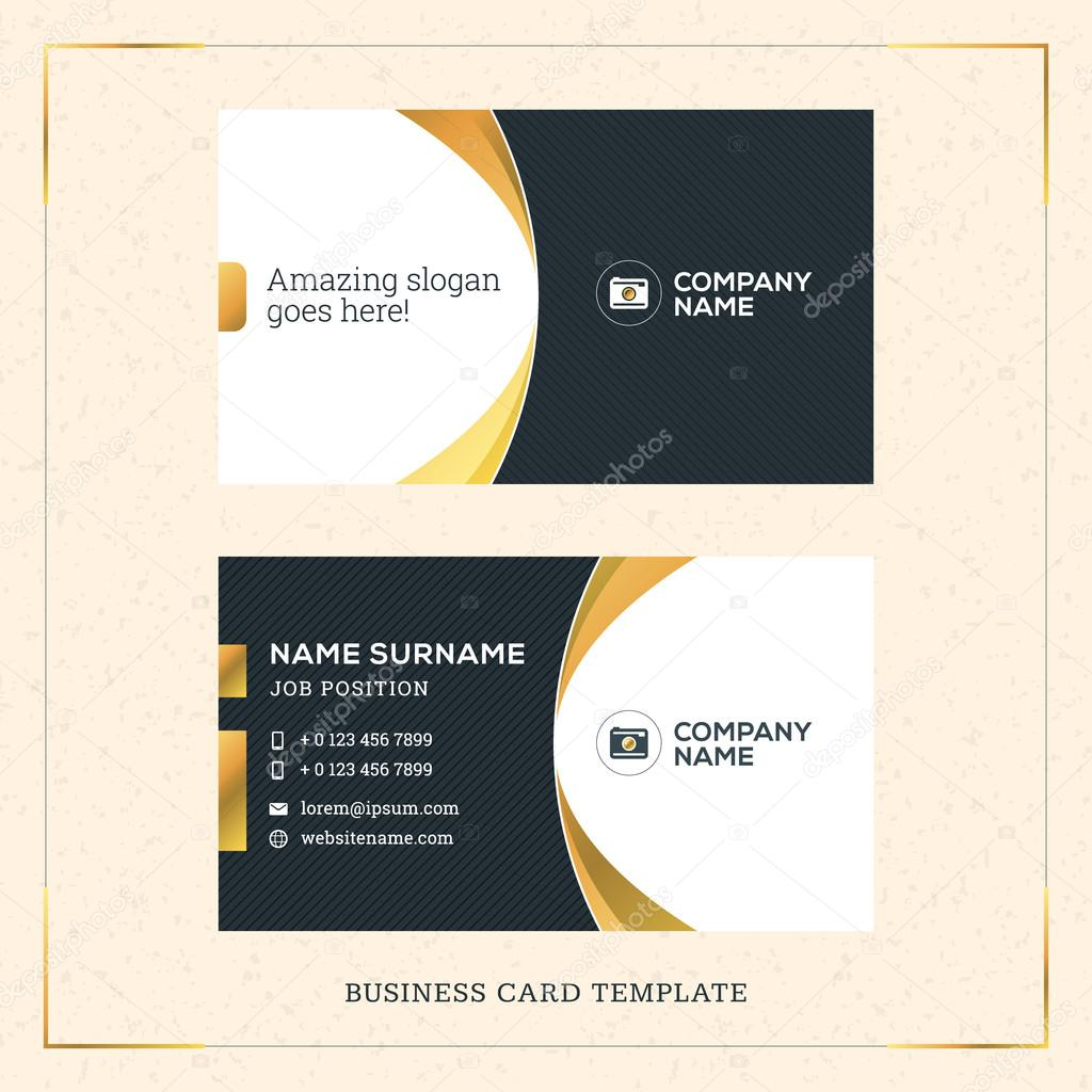Modern creative golden business card vector template vector modern creative golden business card vector template vector illustration stationery design gold and reheart Images