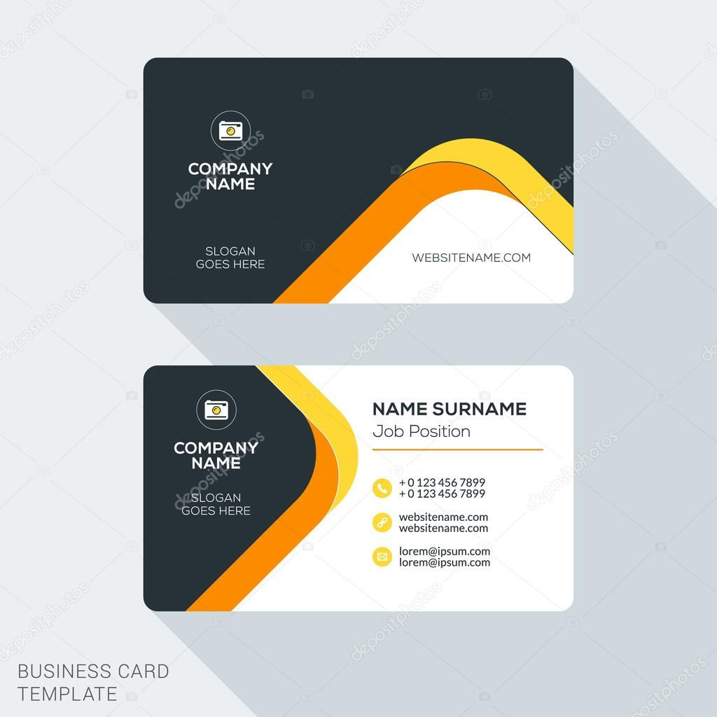 Creative and Clean Corporate Business Card Template. Flat Design ...