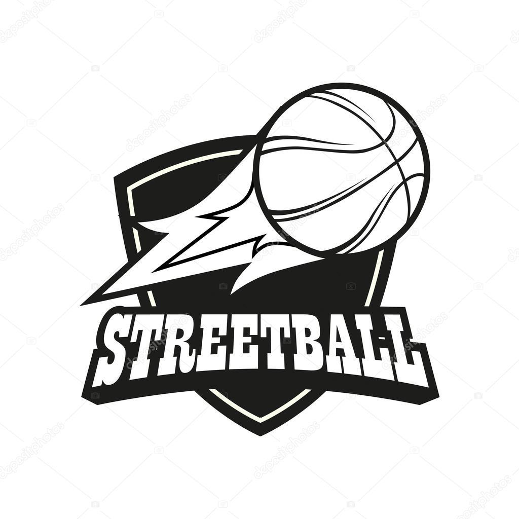 Streetball logo set — Stock Vector © Pechenuh #100289554