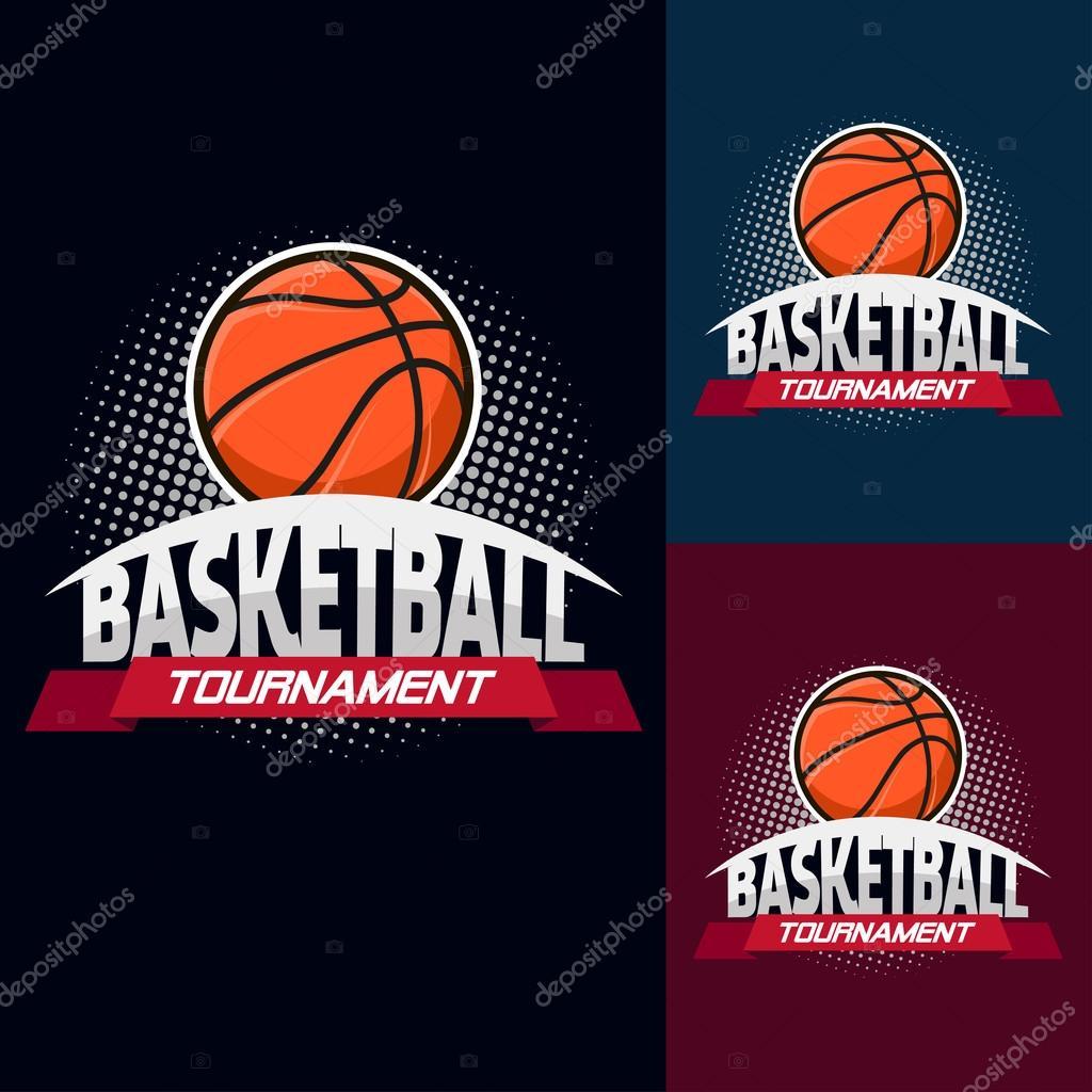 Logotipo de torneio basquete cor — Vetor de Stock © Pechenuh  119458780 bbabb678dbd15