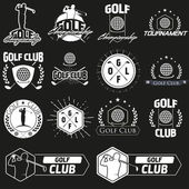Vorlagen für das Logo des Golfclubs.