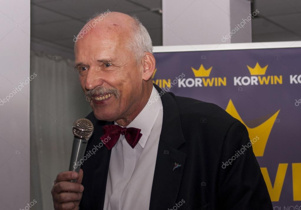 Janusz Korwin Mikke, candidate for President of the Republic Pol