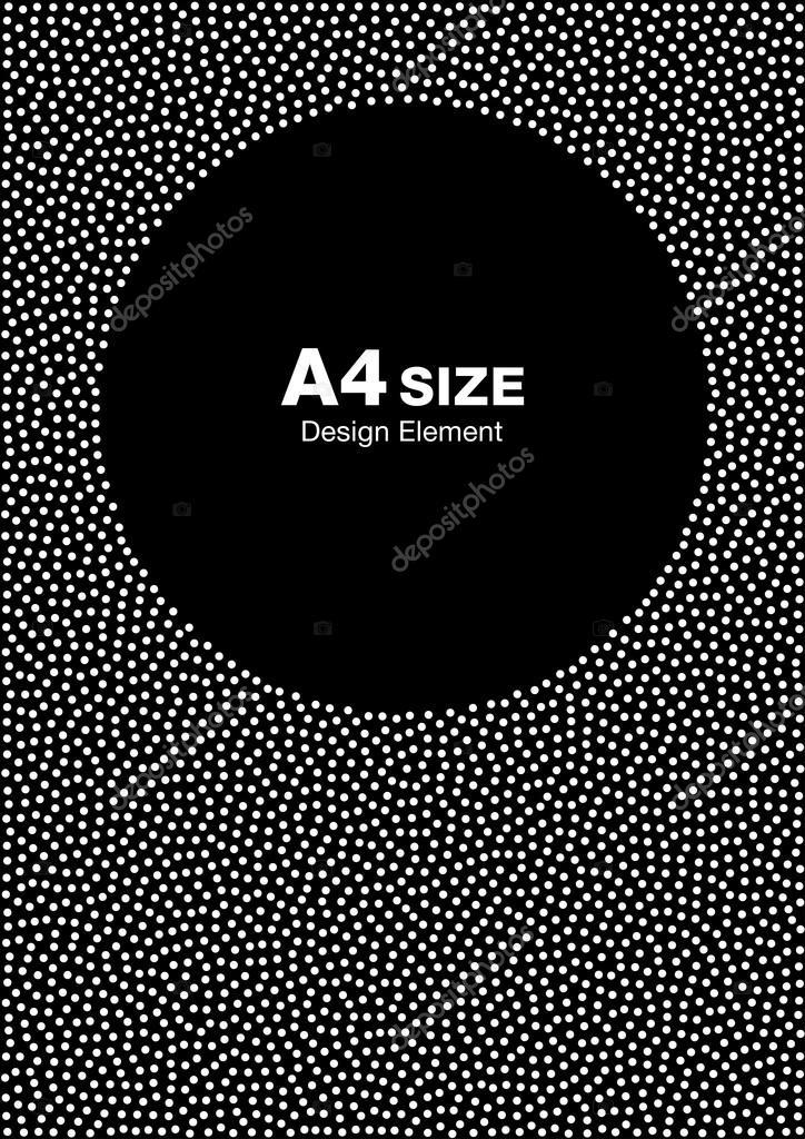 Marco de puntos medio tono abstracto blanco sobre fondo negro. Telón ...