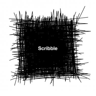 Hand Drawn Scribble Square