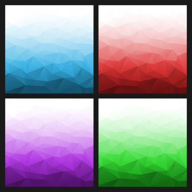 Set of Abstract Gradient Geometric Bright Backgrounds.
