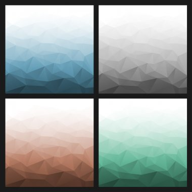 Set of Abstract Gradient Geometric Backgrounds.