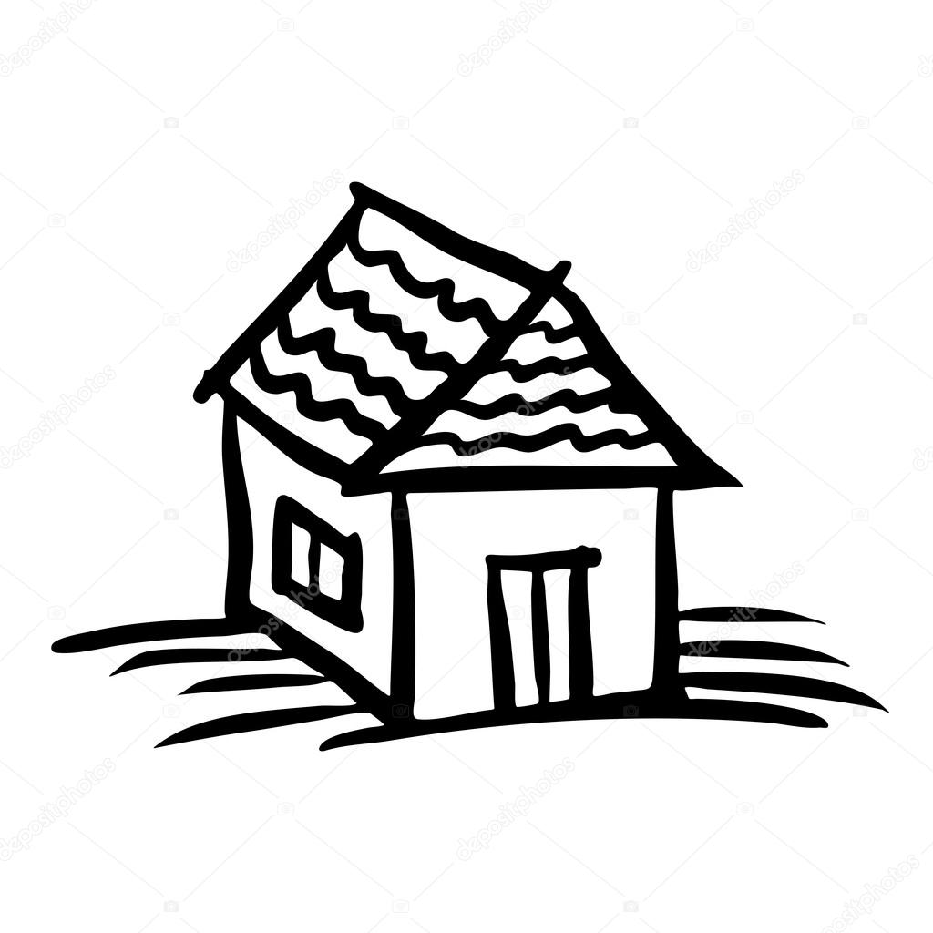 Desenho de casa vetores de stock artishokcs1 56650503 for Croquis de maison plan de maison