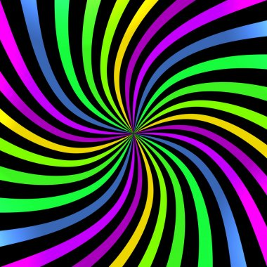 Colorful Bright Spiral background.