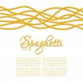 Realistické Twisted špagety těstoviny, horizontální kompozice