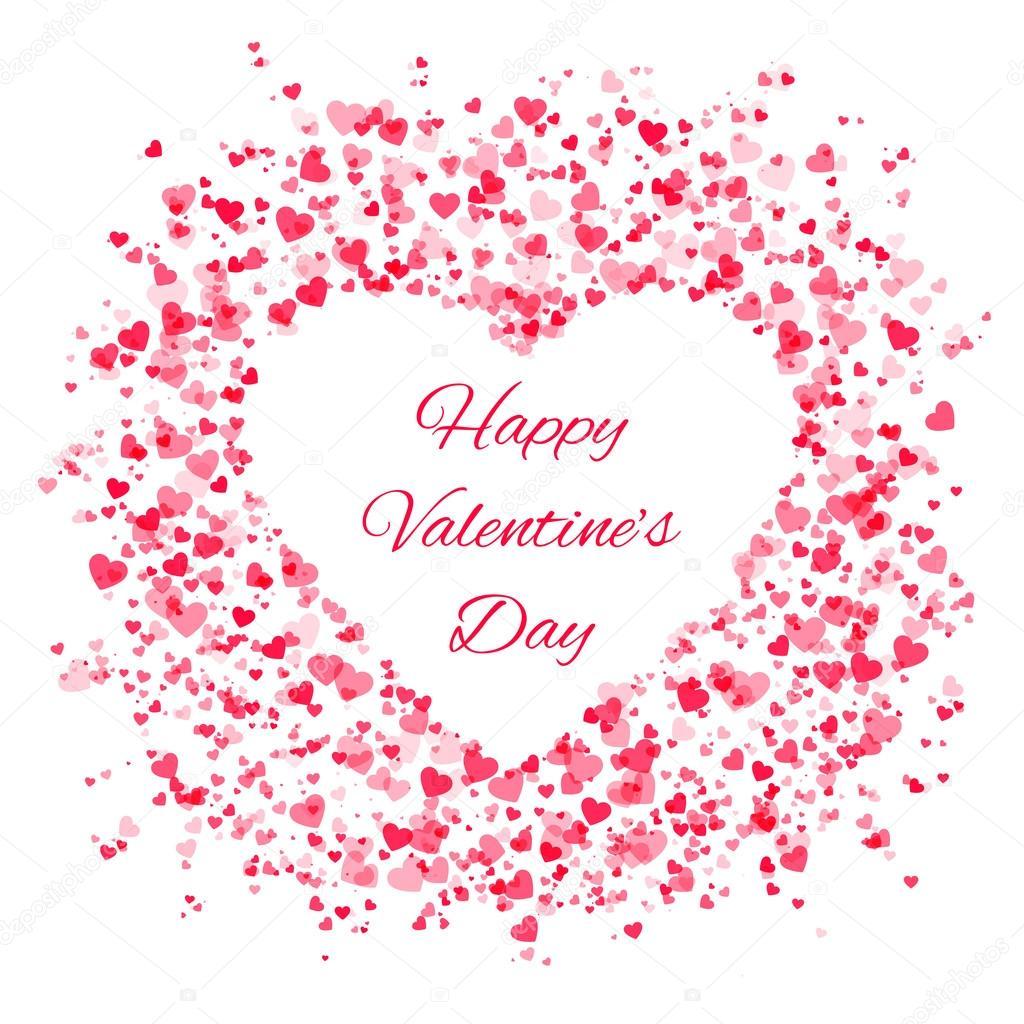 Marco de muchos corazones - día de San Valentín — Vector de stock ...